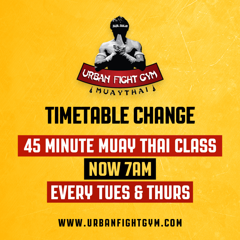 New 45 Minute Morning Muaythai Class