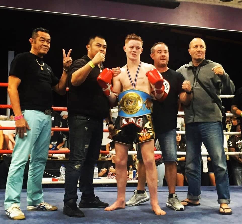 josh king muay thai title